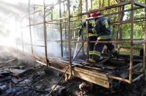 Pożar gasili strażacy z Komendy Powiatowej PSP i Wojskowej Straży Pożarnej w Braniewie