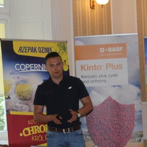 Rafał Maras, Crop manager Seed Treatment, PGR and Cereals Herbicides, BASF opoiwedział podczas konferecnji o nowej zaprawie Kinto Plus. Fot A. Kobus
