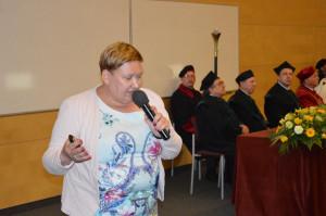 Dr hab. Zuzanna Sawińswka uwypukliła problemy przed jakimi stoi nauka; Fot. Katarzyna Szulc