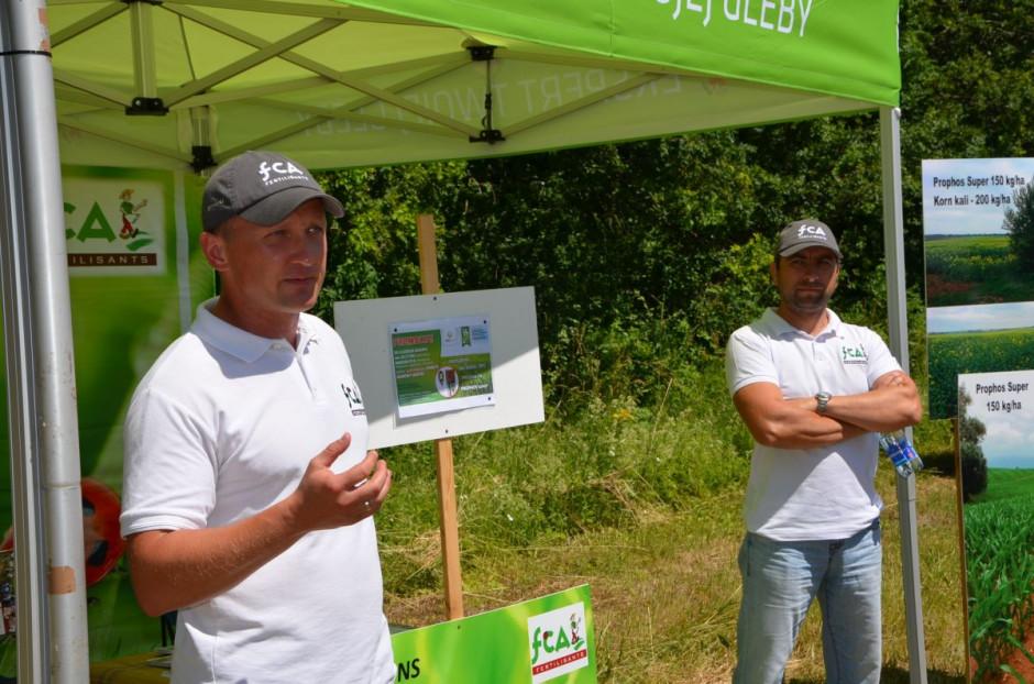 Przedstawiciele firmy FCA Fertilisants mówili o nawozach, fot. M. Tyszka