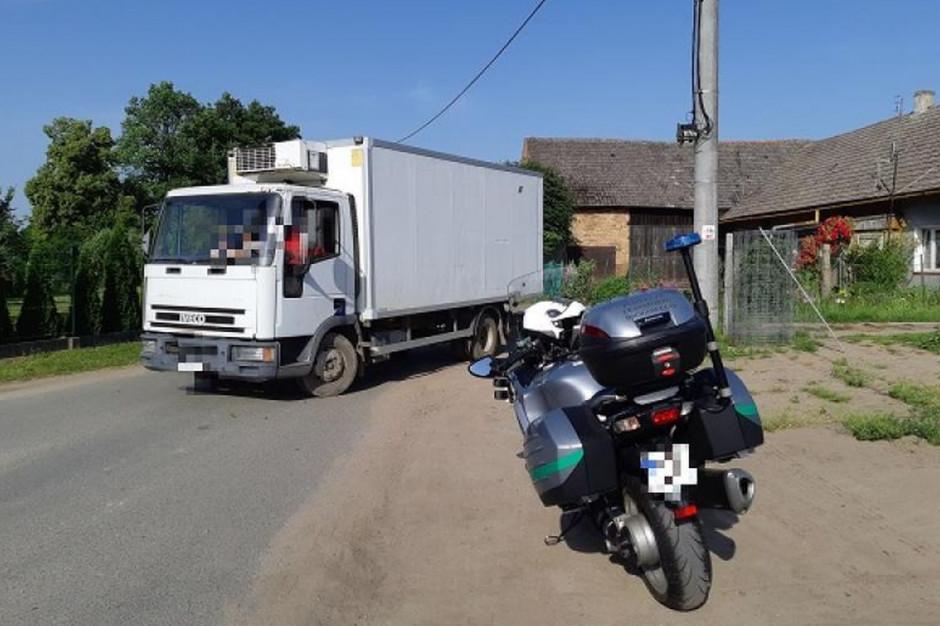Ciężarówkę zatrzymał motocyklowy patrol WITD, zdjęcia: WITD Wrocław