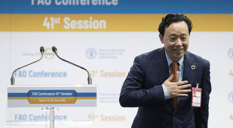 ONZ: Qu Dongyu z Chin nowym dyrektorem generalnym FAO