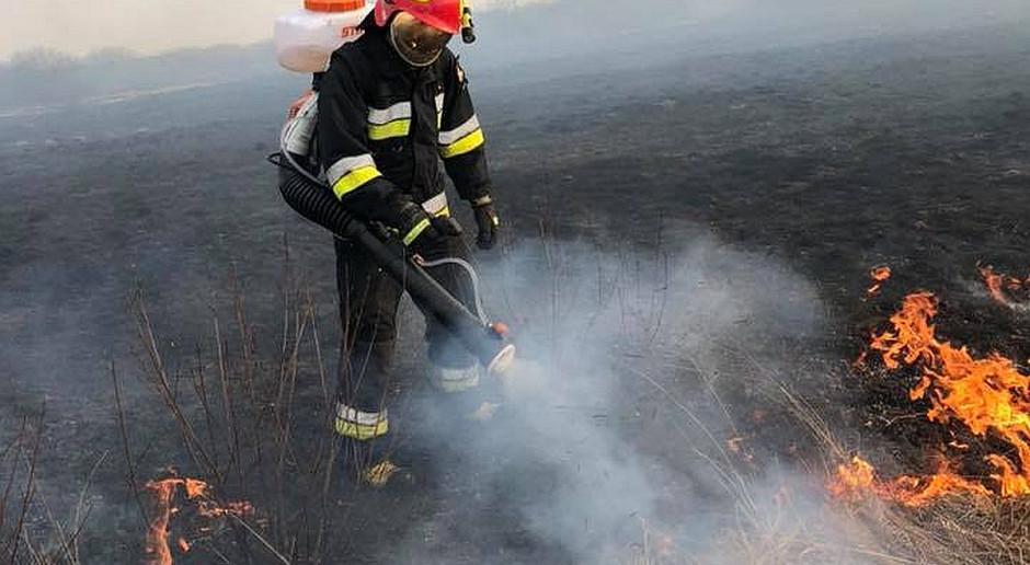 Gasił pożar traw i ledwo uszedł z życiem