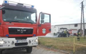 W akcji gaśniczej brały udział dwie załogi strażackich wozów