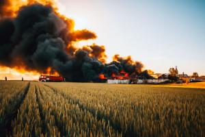 Płoną kombajny i pola