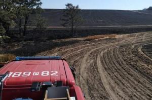W największym dotąd pożarze zbóż pod Gostyniem spłonęło około 200 ha zboża na pniu, Foto: OSP Śmigiel