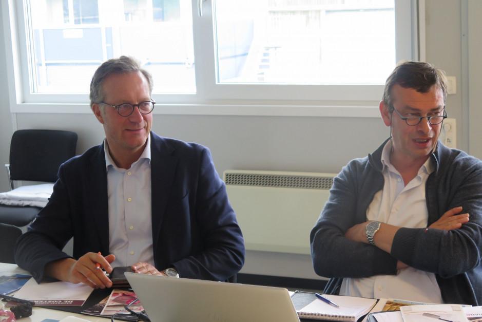 Stefaan Lambrecht właściciel firmy (z lewej) oraz Luc de Lille, szef zakładu De Coster