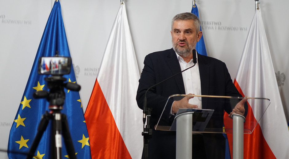Ardanowski: Tak dużych strat, jakie miały miejsce w roku ubiegłym, w Polsce się nie spodziewam