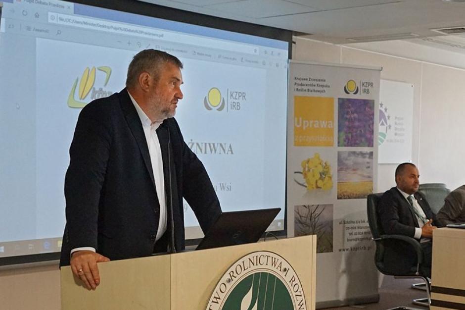 Jan Krzysztof Ardanowski podczas debaty, fot. MRiRW