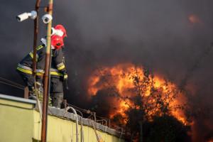 Pożar w suszarni kukurydzy k. Inowrocławia