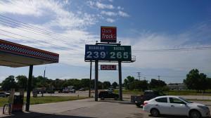 Teksas - ceny podstawowych paliw (benzyna i olej napędowy) na stacji, fot. T.Kuchta
