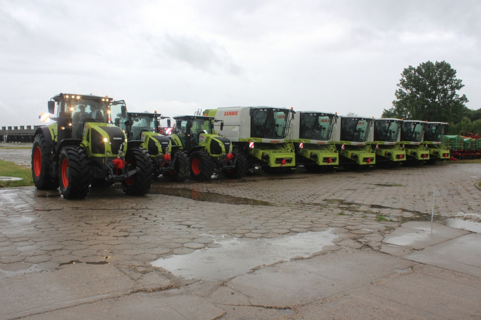 Flota 6 kombajnów i 3 ciągników Claas przekazana do dzierżawy gospodarstwu Laird Agro Group, fot.kh