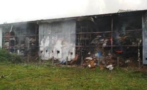 Większość magazynowanych ziół została w pożarze zniszczona