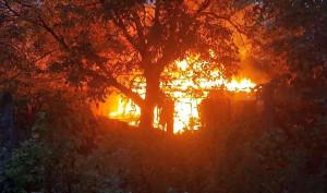 Budynek wraz z kurami spłonął doszczętnie