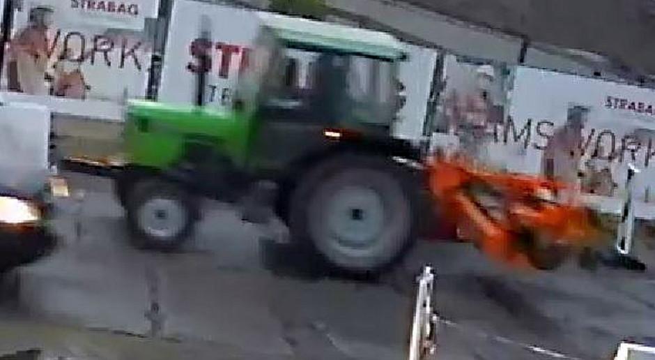 Poszukiwania skradzionego ciągnika rolniczego