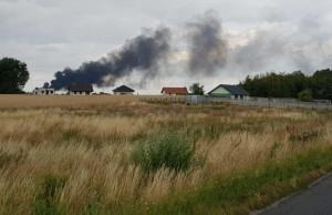 Pożar był widoczny z odległości wielu kilometrów