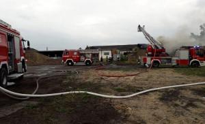 W akcji gaśniczej brało udział 10 zastępów strażackich