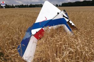 Zderzenie szybowców pod Lublinem. Szczątki statku spadły na pola