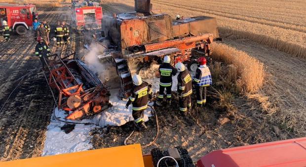 Pożary przy żniwach – w ogniu kombajny, zboże i ścierniska