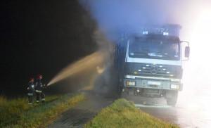 Kierowca ciężarówki nie ucierpiał w zdarzeniu