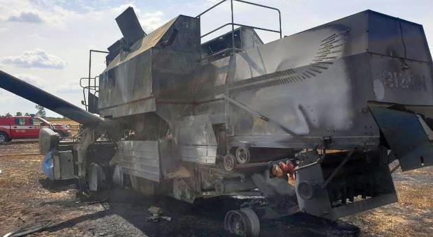 Kolejny kombajn i pole spłonęły na Mazowszu