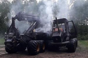 Pożar udało się opanować, ale maszyny zostały mocno zniszczone