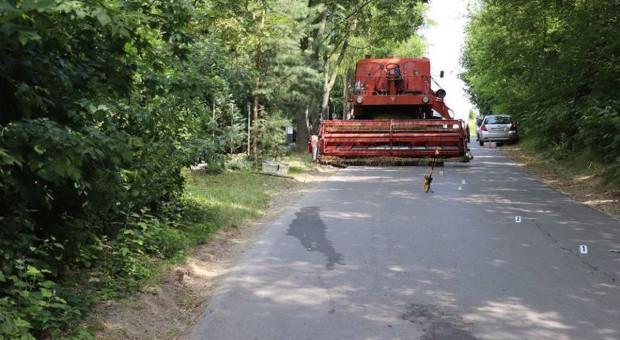 Zmarł motocyklista, który zderzył się z kombajnem pod Opatowem
