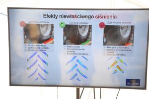 Grafika przedstawiająca efekty niewłaściwego ciśnienia w oponach, fot. mw
