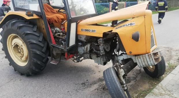 Groźne zderzenia samochodów osobowych z traktorami