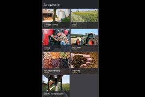 W zakładce zarządzanie mamy wprowadzamy m.in. pola, maszyny, rodzaje roślin, środki ochrony i nawozy, fot. mw