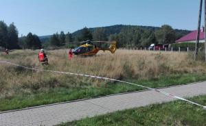 Do szpitala przetransportował 58-latka śmigłowiec LPR, Foto: Policja