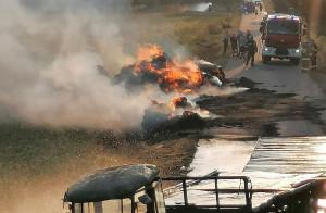 W działaniach gaśniczych uczestniczyły 4 zastępy strażaków