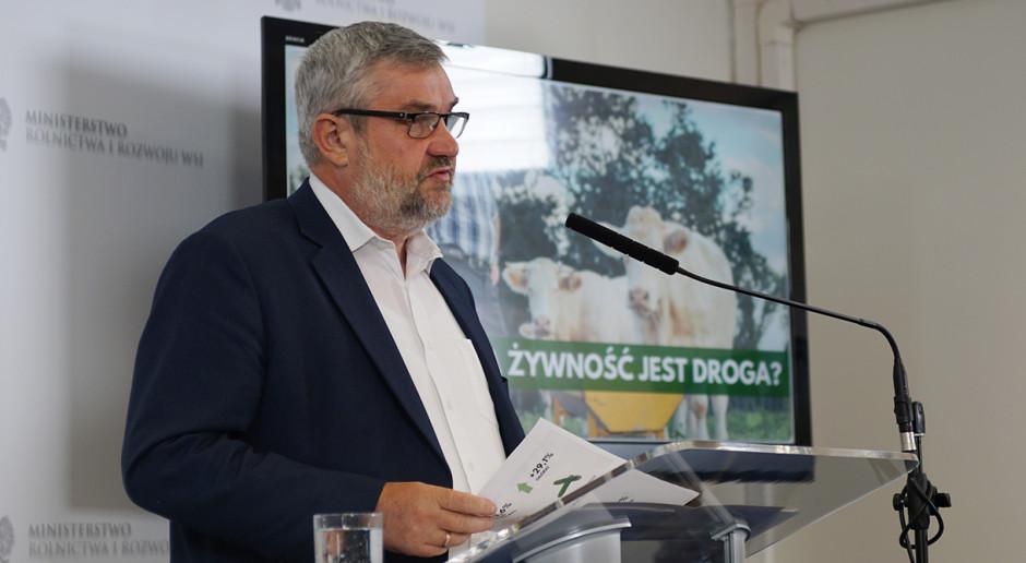 Minister Ardanowski o cenach żywności