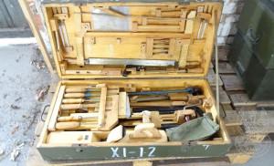 Któż by pogardził takim zestawem narzędzi stolarskich?