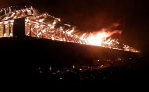 Strażacy przez całą noc gasili szalejący pożar, Foto: KP PSP Hajnówka