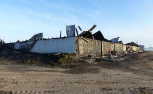 Na większości obiektu zawalił się spalony dach
