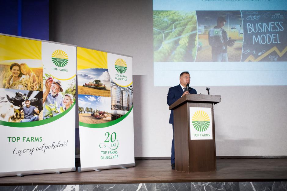 Prezes Tomasz Zdziebkowski podkreślał, że rolnictwo to pasja ale także zaangażowanie i poświęcenie