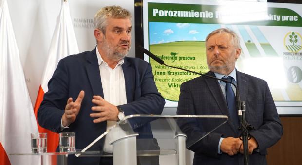 Ardanowski: Porozumienie Rolnicze wypracowało ok. 180 zaleceń i rekomendacji