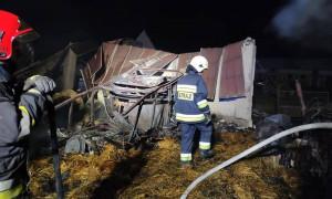 Zawalony dach uniemożliwił strażakom uratowanie inwentarza