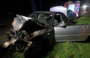 Przy usuwaniu skutków wypadku pracowało 5 zastępów strażackich