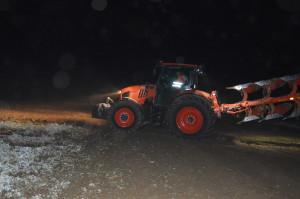 Dzięki dobremu oświetleniu ciągnika praca w nocy nie była problemem