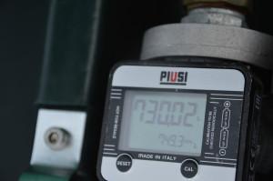 Licznik zbiornika pokazał paliwo zużyte w czasie pracy