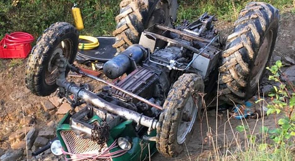 Przewrócony traktor przygniótł rolnika