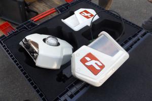integralną częścią zestawu jest również czujnik mierzący natężenie światła montowany na dachu ciągnika