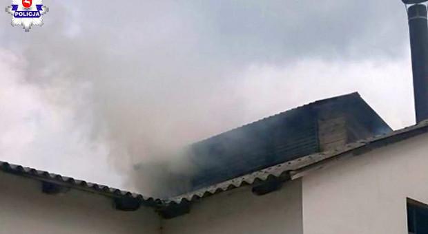 Pożar suszarni chmielu w Krasnymstawie