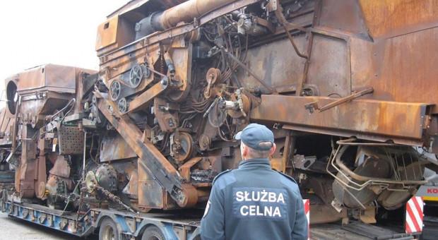 Podejrzany eksport spalonych kombajnów