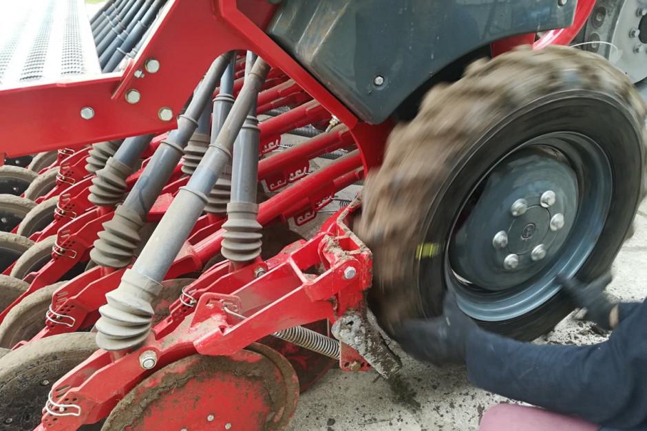 Dysponując materiałem o niskiej MTZ przed wyjazdem w pole należy bardzo dokładnie wykonać próbę kręconą, by uzyskać założoną dawkę nasion na hektar Fot. A.Kobus