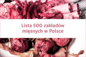 Nowa lista 500 liderów branży mięsnej w Polsce już dostępna