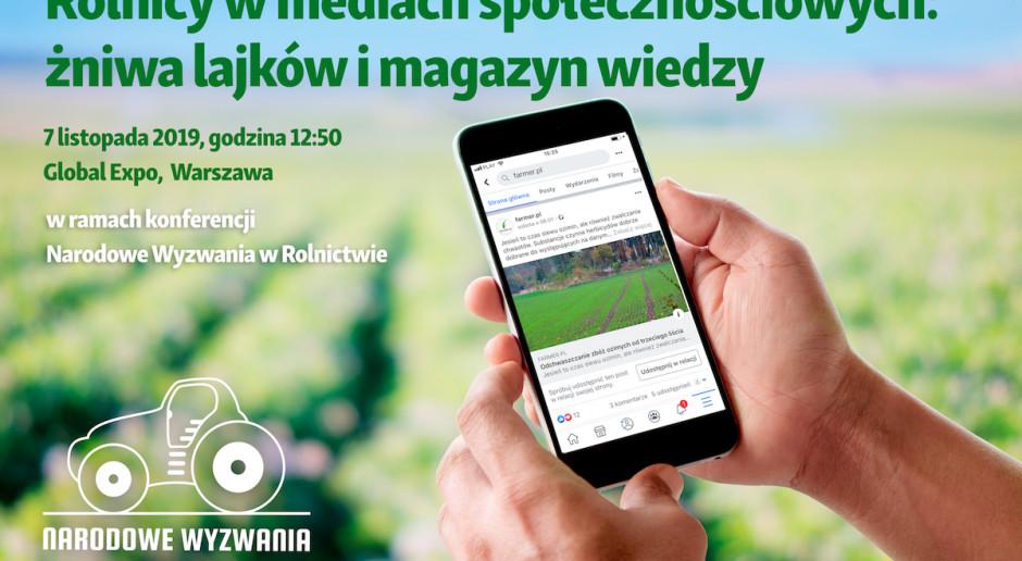 Żniwa lajków i magazyn wiedzy - pierwsza taka sesja podczas Narodowych Wyzwań w Rolnictwie
