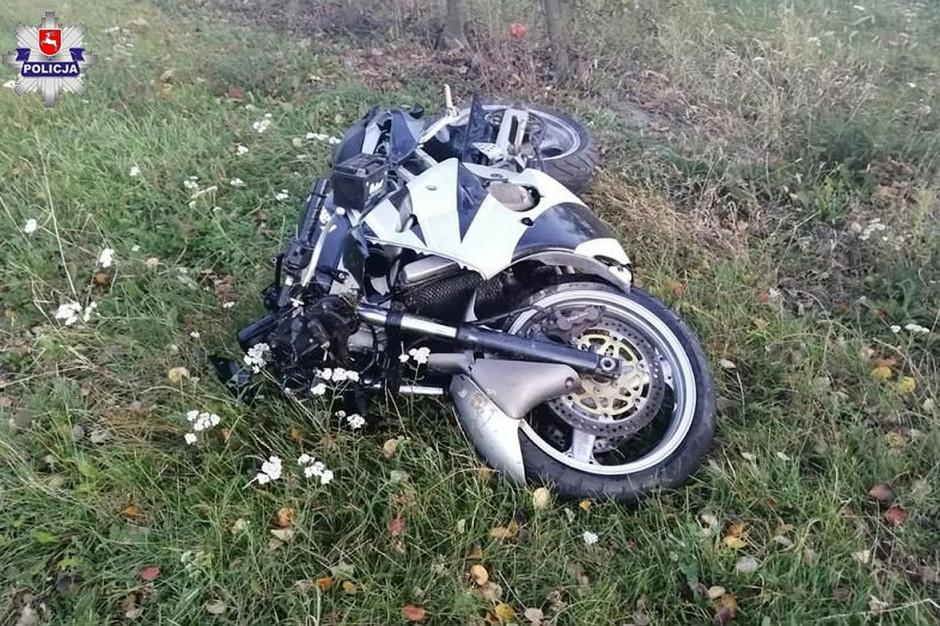 W wyniku zderzenia motocyklista trafił do szpitala, Fot. Policja
